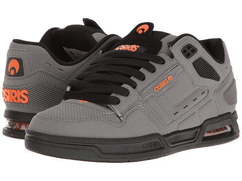 Zapatilla Osiris II Peril charcoal black orange
